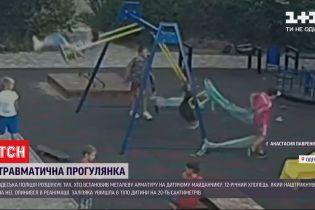 Одесская полция ищет тех, кто установил металлическую арматуру на детской площадке