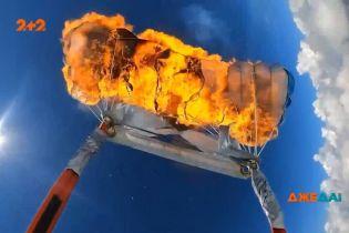 Экстремал из Техаса Кайл Маркварт поджег свой парашют на высоте двух тысяч метров
