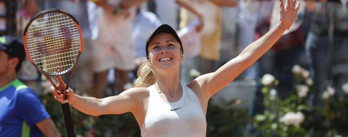 Світоліна розібралася з росіянкою у стартовій дуелі на турнірі в Римі