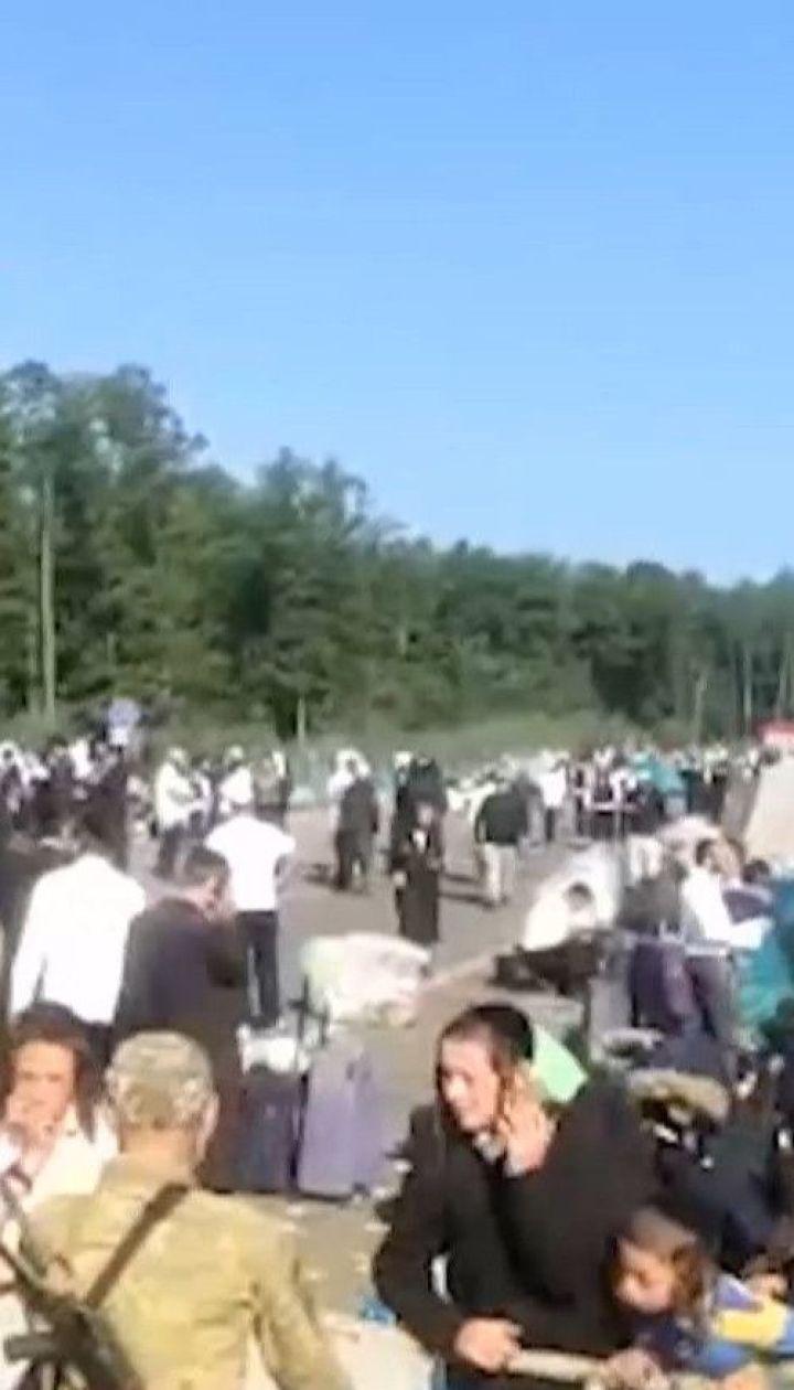 Хасиды на границе тысяча паломников остаются на грани Беларуси и Украины