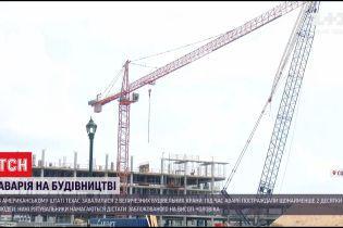 У штаті Техас зіштовхнулися 2 гігантських будівельних крани