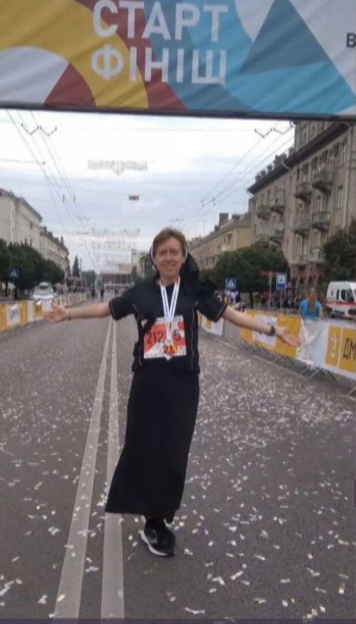 Черниця-переможниця: львівська монахиня посіла перше місце у напівмарафоні у Луцьку