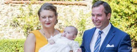 Принц Люксембурга Гийом и принцесса Стефания крестили сына - принца Шарля