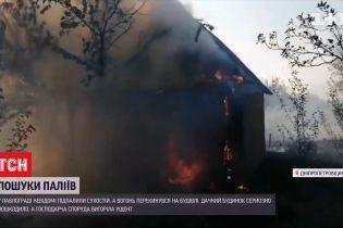 У Дніпропетровській області невідомі підпалили сухостій та спалили дачу