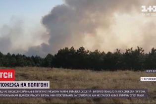 Після навчальних стрільб на військовому полігоні вигоріло понад 10 гектарів лісу