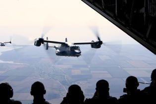 США здійснили дозаправку в повітрі конвертопланів Osprey під час українсько-американських навчань
