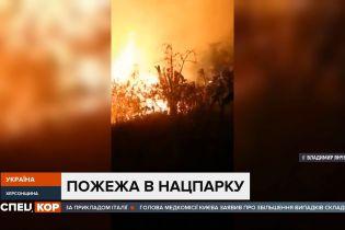 У Херсонській області загорівся очерет ймовірно через підпал сухостію – вогонь знищив 5 сараїв