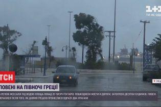 На севере Греции наводнения: стихия повредила мосты и дороги, есть погибшие