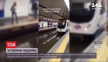Метро в воде: в Испании не работает подземка из-за мощных ливней