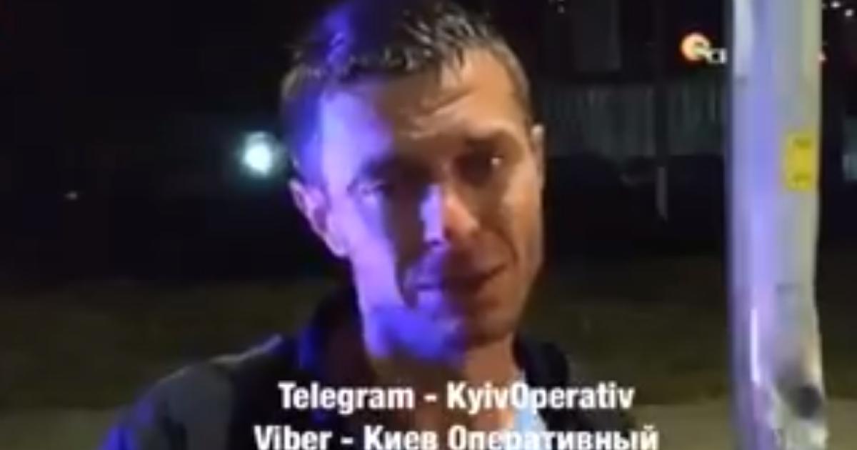 У Києві таксист випив вина і в'їхав у стовп: з'явилося відео