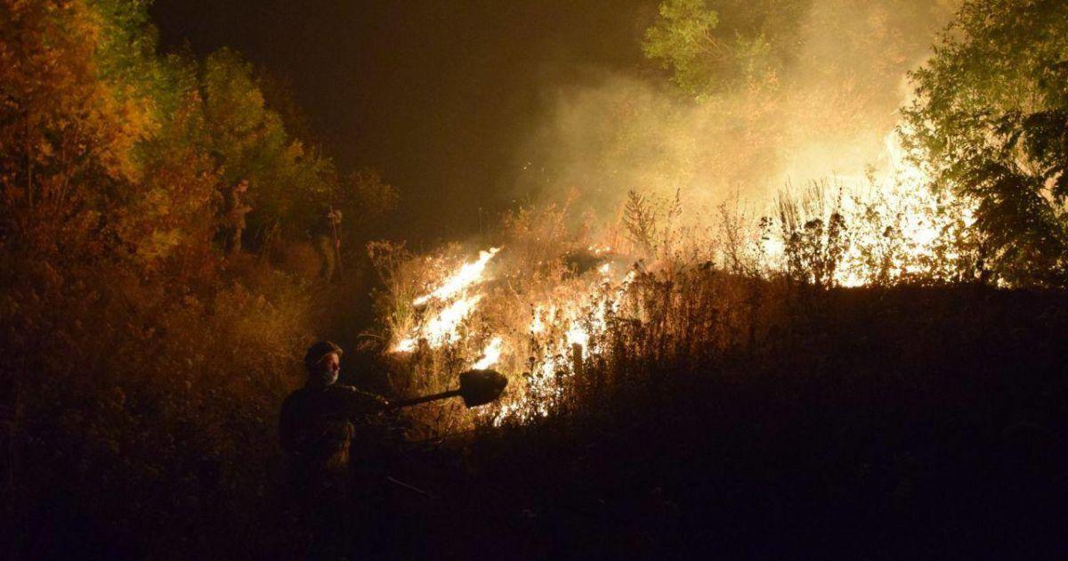 В штабе ООС рассказали, что масштабные пожары в Луганской области возникли из-за умышленный поджог боевиков — новости Украины - Украина - TCH.ua