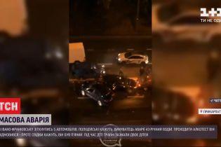 В Івано-Франківську зіткнулися одразу 5 легковиків