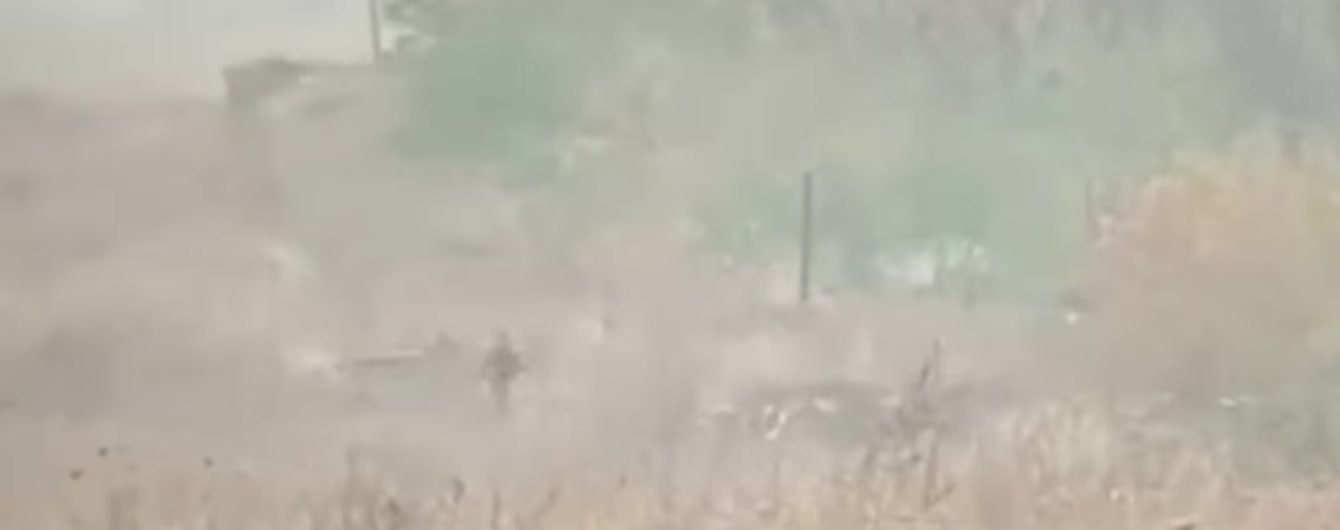 """У МВС підтвердили факт підпалів сухої трави в Луганській області терористами """"ЛНР"""""""