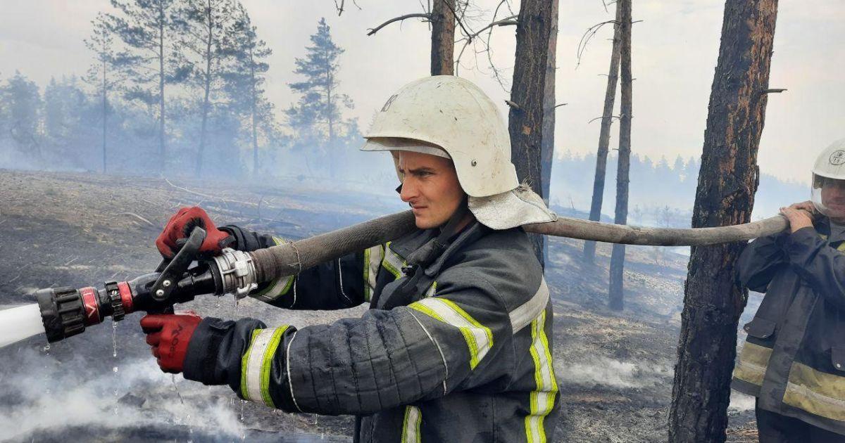 Крупный пожар в Луганской области: спасателям удалось локализовать огонь на большинстве территории