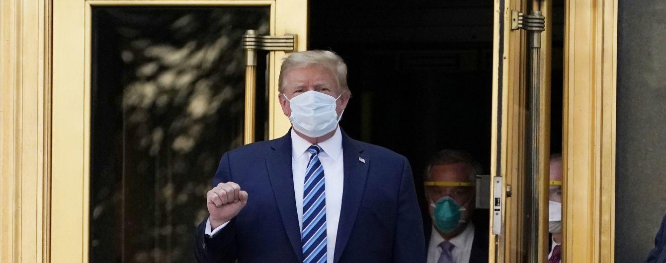 Трамп покинув лікарню після лікування коронавірусу і полетів до Білого дому