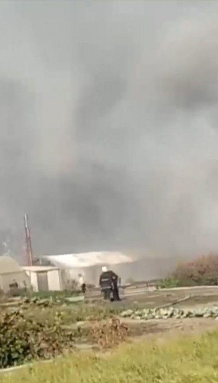 На окраине Харькова выгорела тысяча квадратных метров территории