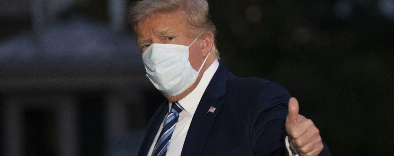 Стало відомо, скільки коштувало лікування коронавірусу в Трампа