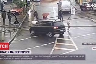 Киевлянка на иномарке сбила женщину на пешеходном переходе