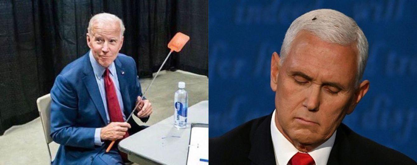 Муха на голові віцепрезидента США стала трендом у Мережі: Байден сфотографувався з мухобійкою і продає її