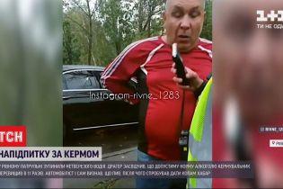Откусил трубку от драгера: в Ровном патрульные остановили водителя в состоянии алкогольного опьянения