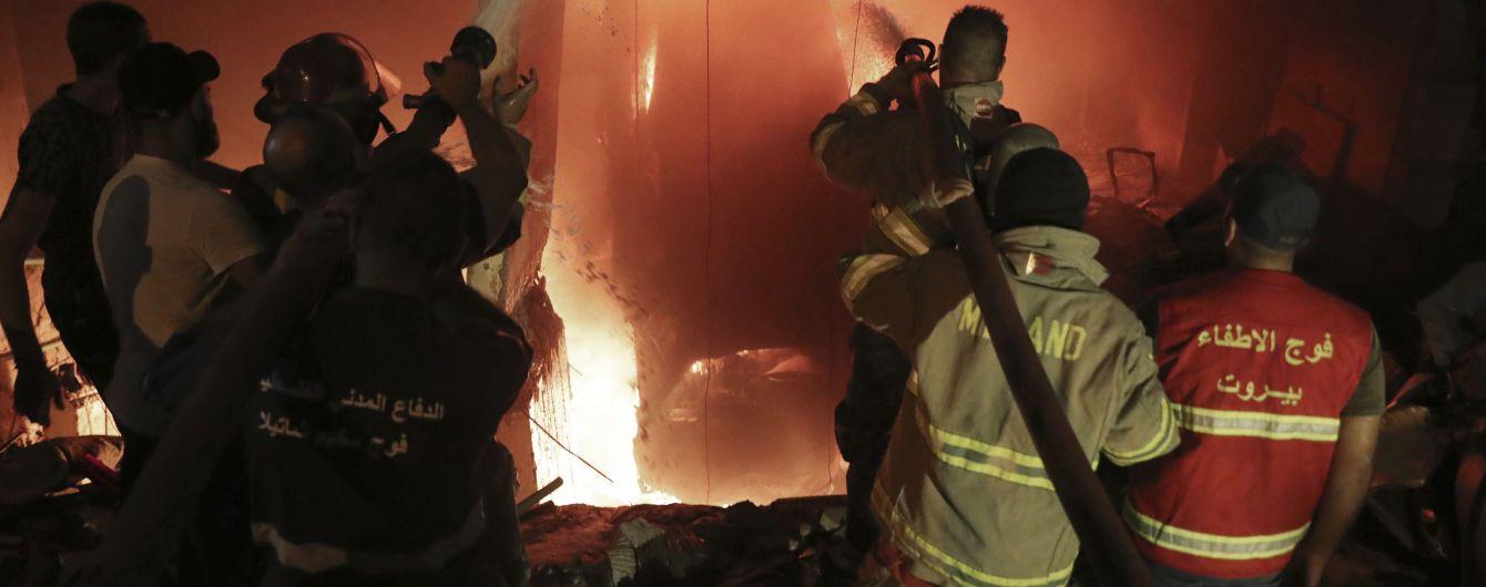В Бейруте снова прогремел сильный взрыв: начался пожар