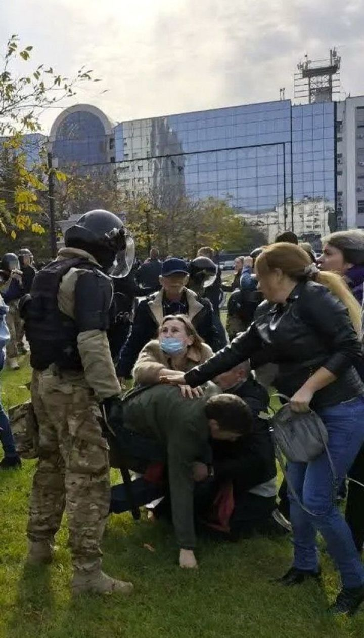 В Хабаровске омоновцы жестко разогнали протест в поддержку арестованного Сергея Фургала