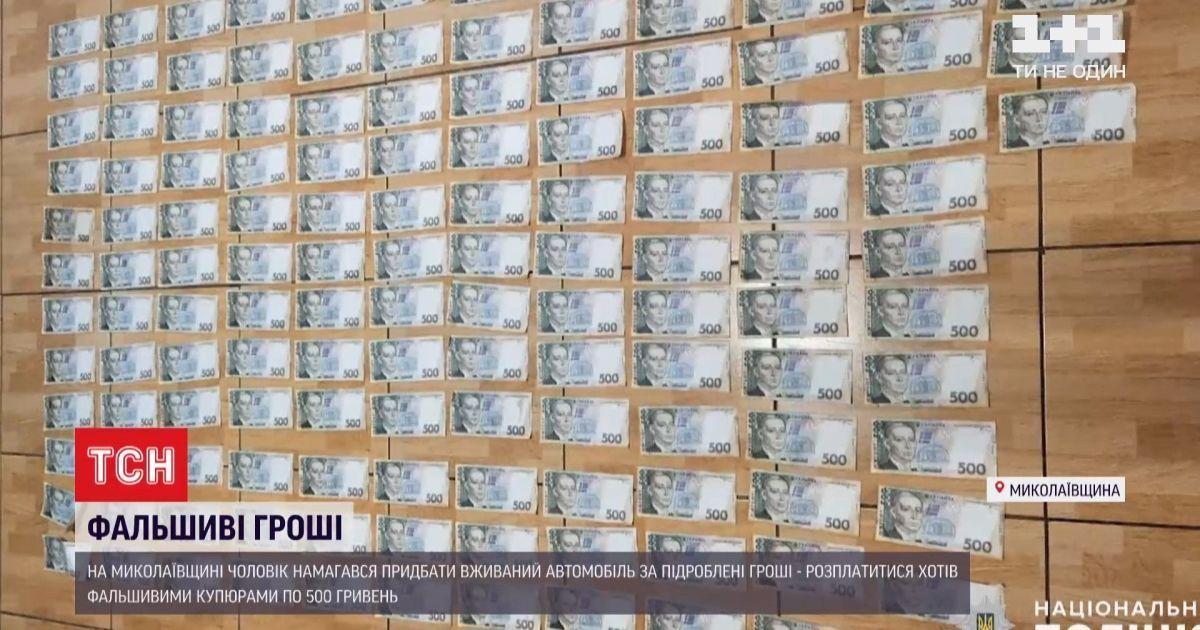 В Миколаївській області чоловік намагався придбати авто за підроблені гроші: відео