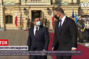 Анджей Дуда та Володимир Зеленський ведуть переговори щодо двостороннього співробітництва