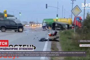"""На трассе """"Киев-Ковель"""" внедорожник протаранил служебную машину """"Укрпочты"""""""
