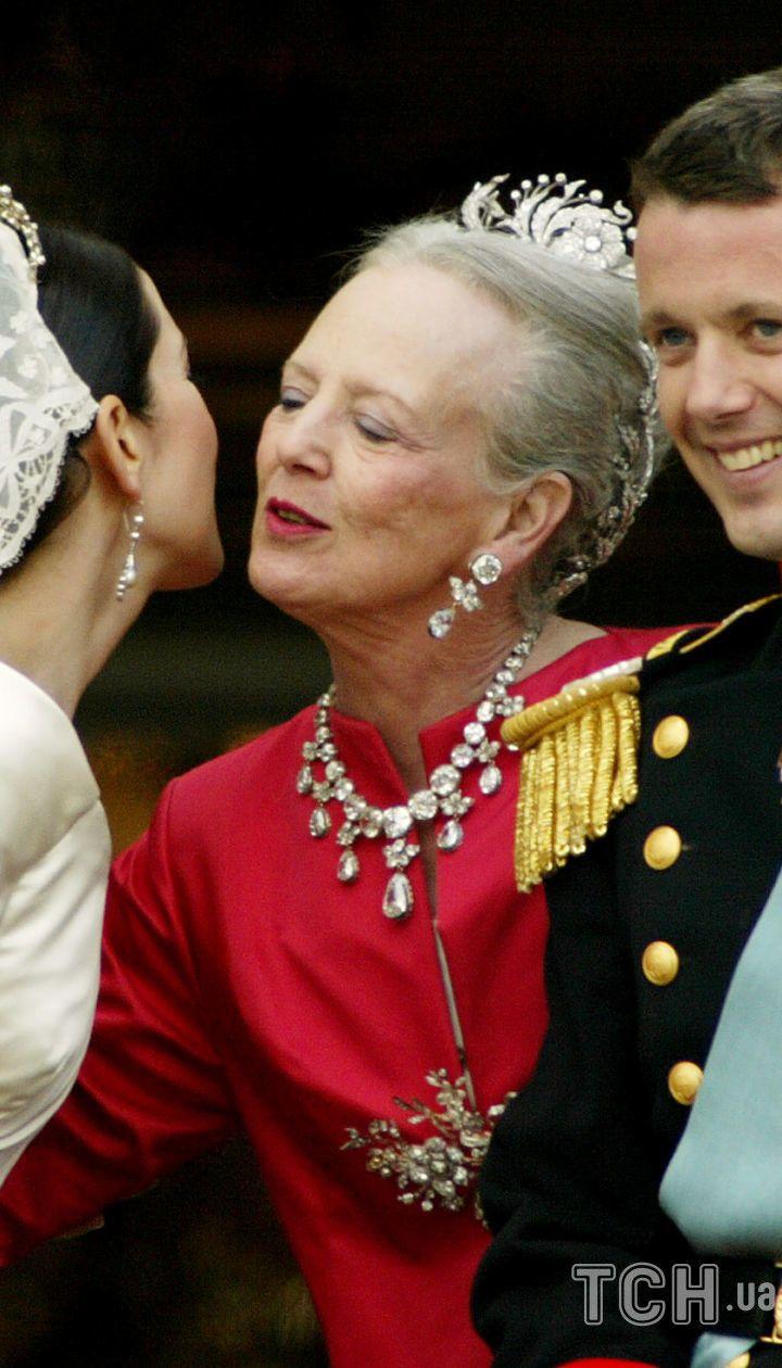 Кронпринцесса Мэри, королева Маргрете II и кронпринц Фредерик