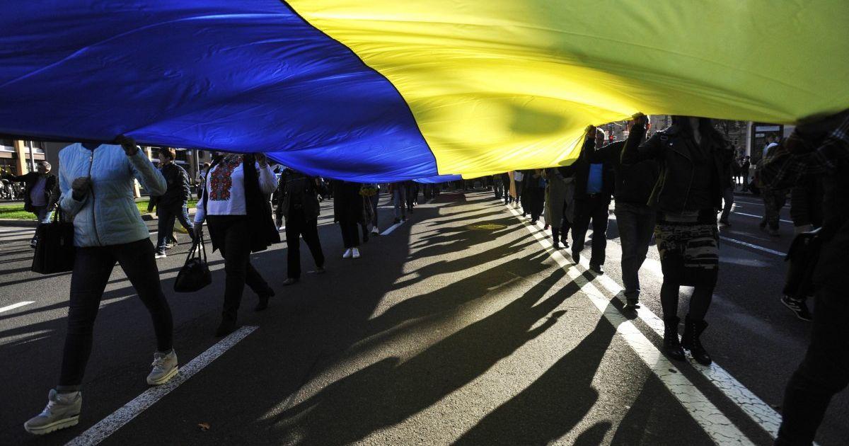 Ветерани АТО, УПА і волонтери: багатотисячна колона  пройшлась Києвом маршем на шану захисникам України