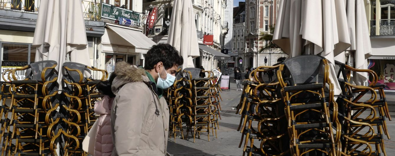 У Франції подовжили карантинні заходи, аби уникнути третього локдауну