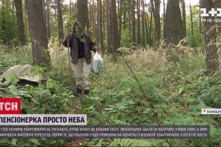 У Львівській області бабуся вимушена жити в лісі через квартирантів