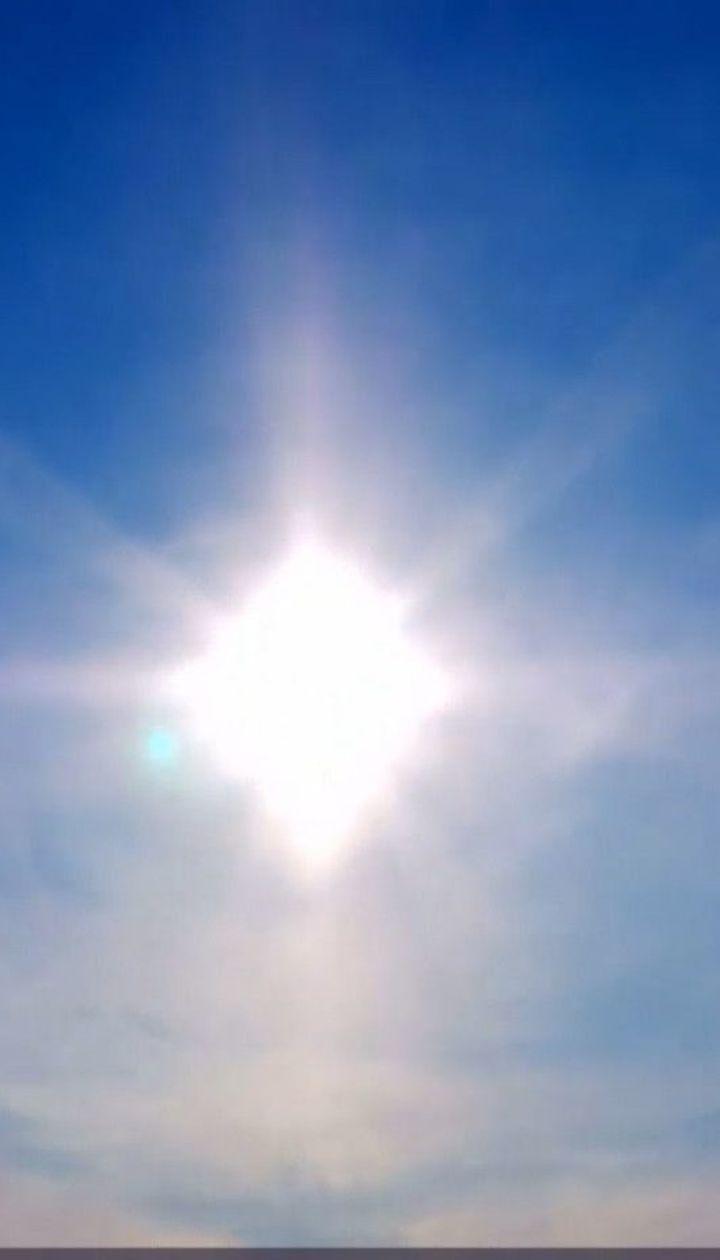 На севере Китая наблюдали ненастоящее солнце