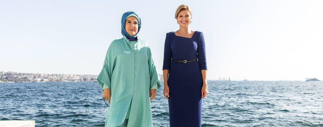 Повторила образ: Елена Зеленская встретилась с первой леди Турции