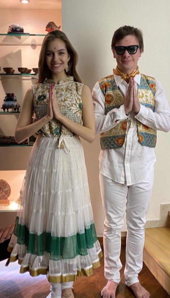 Какой была ситцевая свадьба Дмитрия Комарова и Александры Кучеренко