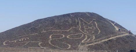 В Перу нашли огромный геоглиф кота, которому более двух тысяч лет