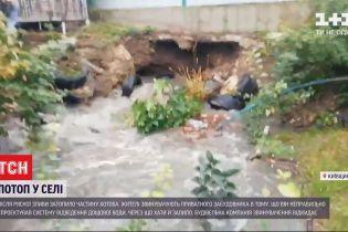Жители села в Киевской области обвиняют застройщика в подтопленных домах