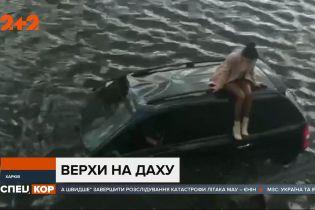 У Харкові машина протаранила огорожу і злетіла з дороги у річку