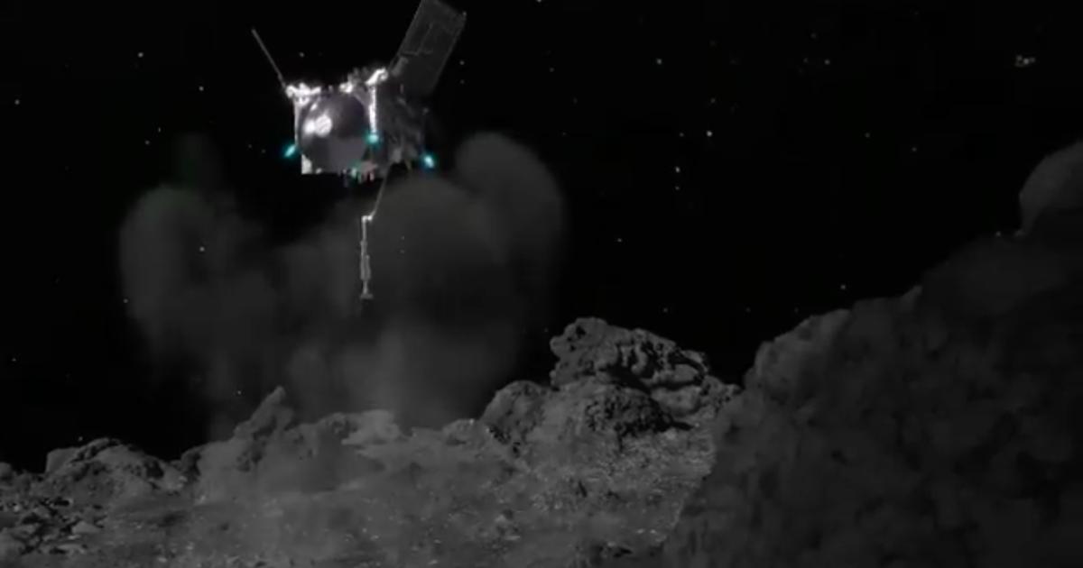 Впервые космический аппарат собрал грунт с астероида: он летит на Землю