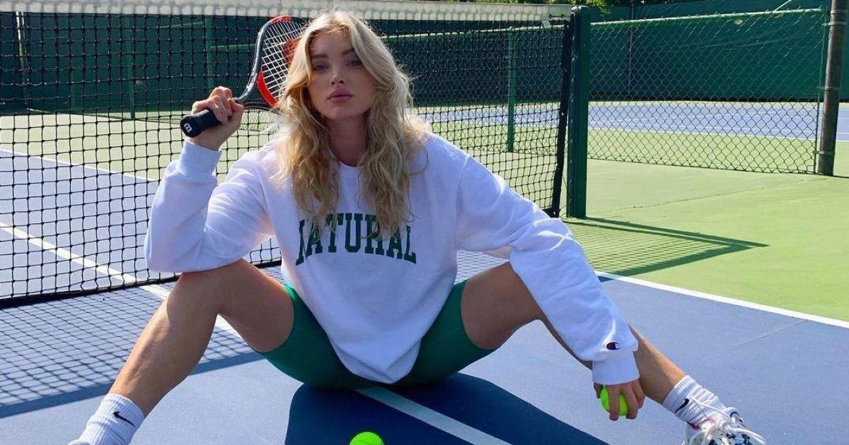 І живота не видно: вагітна Ельза Госк в спортивному луці зіграла в теніс