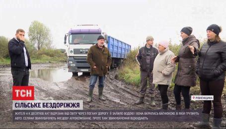 Працівники агрокомпанії звинувачують бобрів у бездоріжжі в Рівненській області
