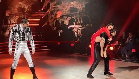 """""""Танці з зірками"""": Надія Мейхер запалила паркет пристрасним пасадоблем з двома чоловіками"""