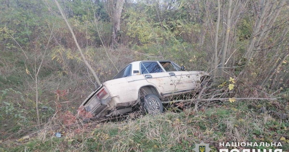 В Киевской области пьяный мужчина похитил у друга машину и разбил ее