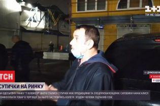"""Столкновения на """"Седьмом километре"""": торговец облился бензином и чуть себя не поджег"""