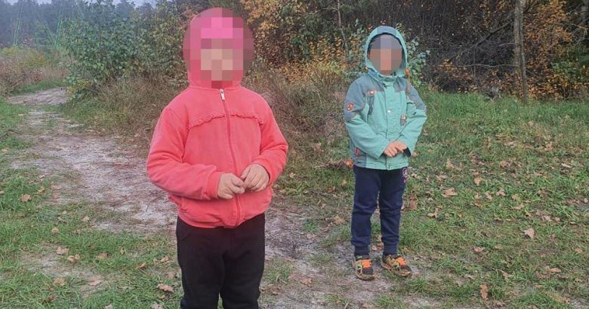 В Киеве дедушка потерял в лесу двух маленьких внуков: появились фото