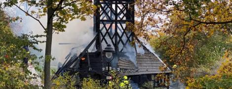 У Празі згоріла старовинна церква, перевезена з України