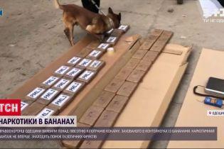 Наркотики в бананах: в Одеській області виявили понад 50 кілограмів еквадорського кокаїну