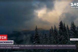 Новий рік близько: у Карпатах випав перший рясний сніг