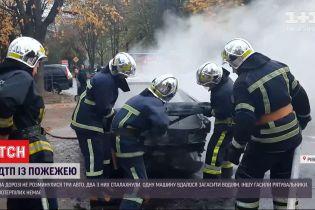 Авария в Ровно закончилась пожаром